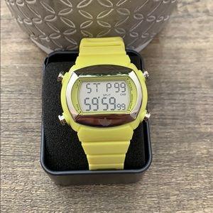 Adidas Oddity Candy shocking yellow watch, unisex